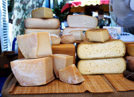 Delicious cheeses
