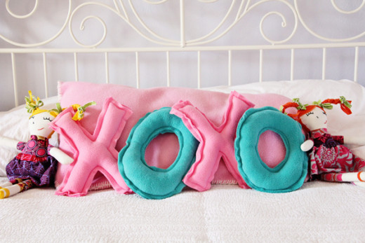 Valentines Pillows Easy tutorial