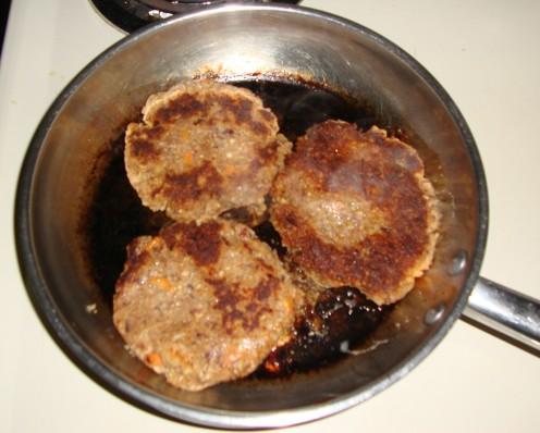 Image: Browned Veggie Burgers