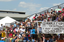 Watch the dog races at Buda TX Wiener Dog Festival