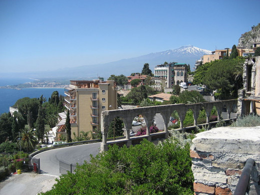 Mount Etna and the Mediterranean Sea, seen from the same view? Can't beat it.