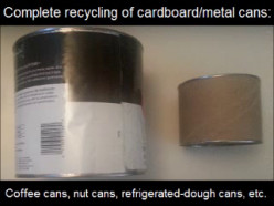 Go Green [2]: Separately Recycle Paper Label, Cardboard Sides, and Metal Rims/Bases from Coffee/Nuts/Etc. Cans