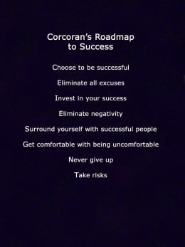 Coaching points by Bill Corcoran, Professional Speaker & Sales Trainer.