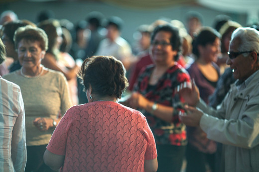Dancing is both a social and physical activity that older adults can enjoy.