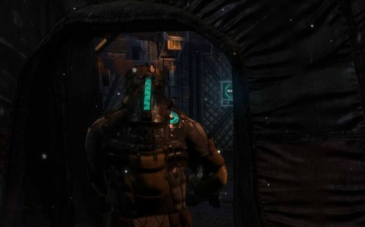 Look for this sort of tents to look for the entrance and exit to the various sections in Dead Space 3 Chapter 10.