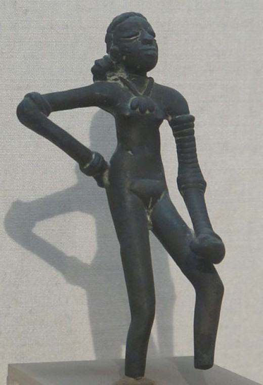 "The ""Dancing Girl"" of Mohenjo Daro in the National Museum, New Dehli."
