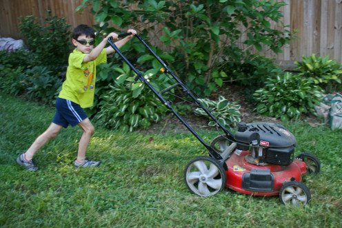 Children of all ages can help with chores