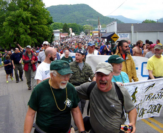 "Damascus hosts an annual ""Trail Days"" parade"