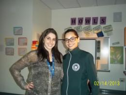 """Just Between Us"" Co-Leaders Guidance Counselor Laura Shectman & 9th Grade Teacher Ambar Hernandez"