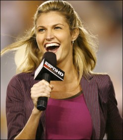 Erin Andrews of ESPN and ABC Sports