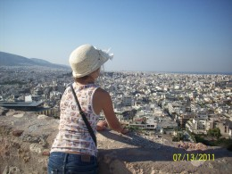 You'll have more time today than you did in Sicily. Take a moment to look out over Athens from the Acropolis.