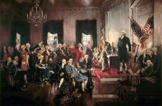 Depiction of the Signing of the US Constitution