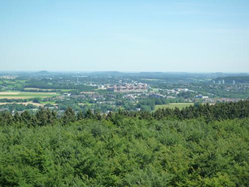 Aachen clinic viewed from the Vaalserberg