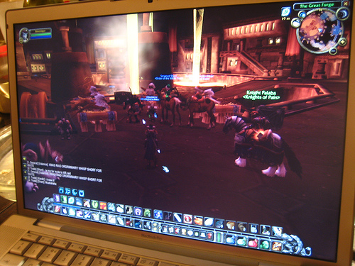 Using voice chat during online games, especially World of Warcraft, is helpful.