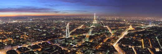 Benh Lieu Song photographed Paris, France at dusk from the Maine-Montparnasse tower on February 9, 2008.