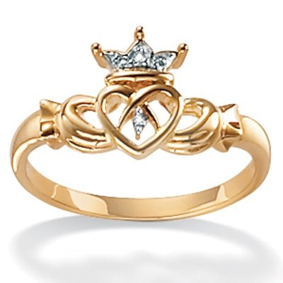 10K Yellow Gold Claddagh Ring