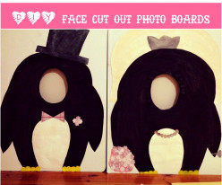 DIY Hand Held Face Cut Out Photo Board