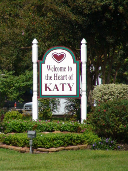 Welcome to Katy, Texas.