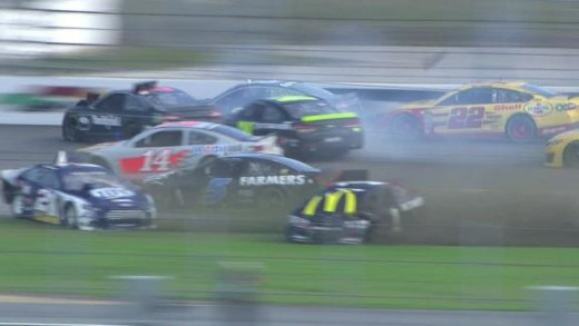 A crash triggered by Dale Earnhardt Junior at this year's pre-season testing cleared the track
