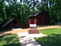 Some of the original, restored outbuildings at White Haven.