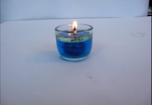 Blue Oil Candle