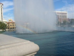 Sometimes the Fountains of Bellagio create a rainbow if you happen to be there on a sunny day!
