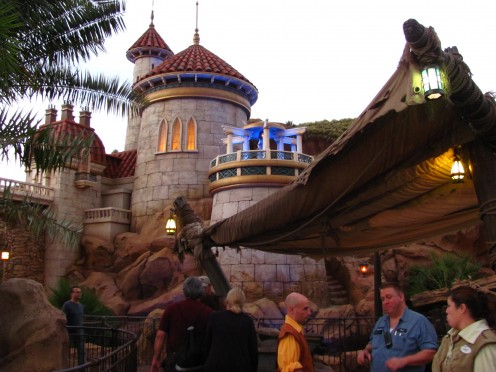 The new Little Mermaid themed ride is fun for all ages.