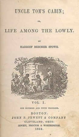 Title-page illustration by Hammatt Billings for Uncle Tom's Cabin -  The First Edition cover