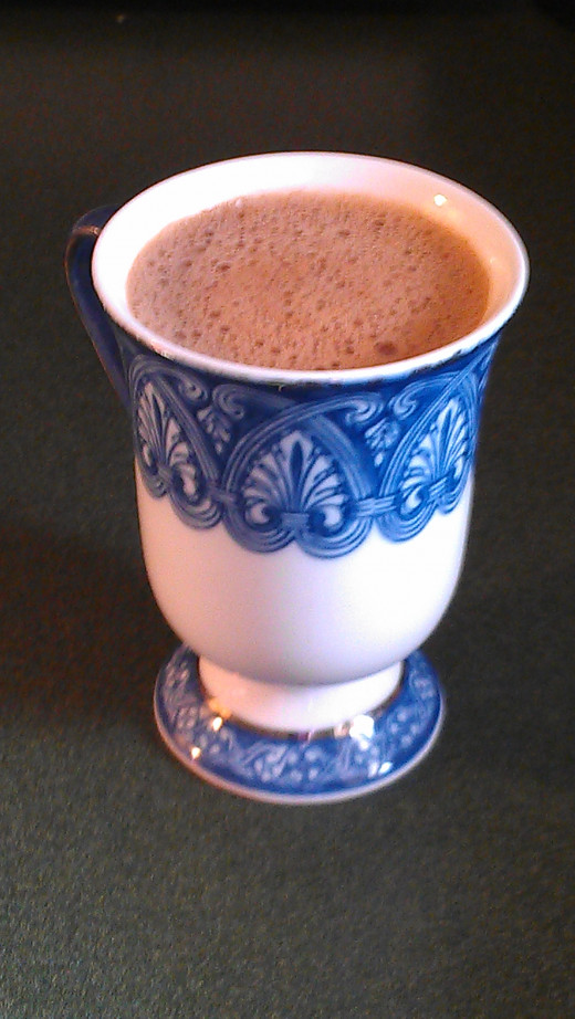 Rich, creamy spiced hot chocolate.