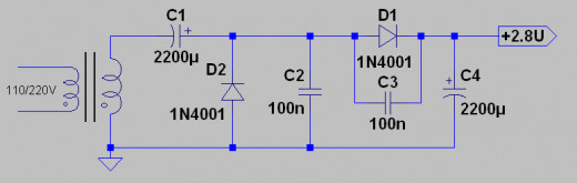 The simple voltage doubler circuit.