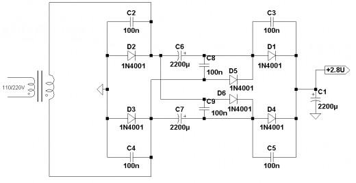 Full-wave voltage doubler.