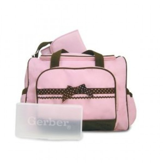 I found these Gerber diaper bags to be super cute. Gerber diaper bags are also priced around $20.