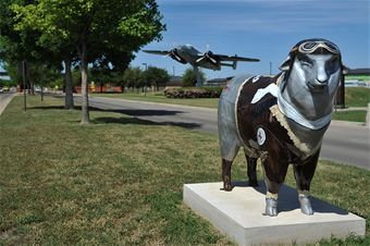 Public sheep themed art. Goodfellow AFB.