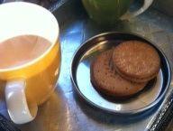 Enjoying English tea with some cookies