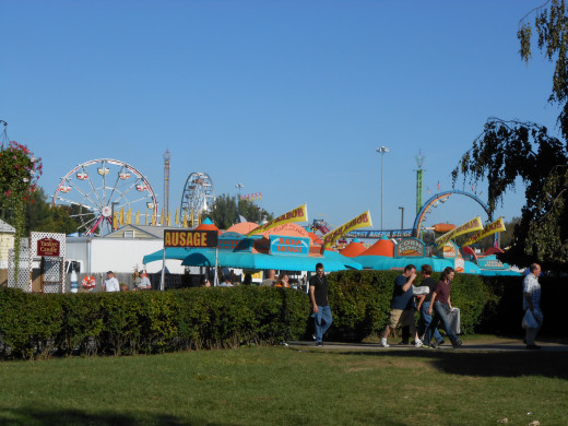 Just a portion of the Midway as seen from the lawn of one of the state buildings.