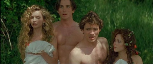 Calista Flockhart, Christian Bale, Dominic West, and Anna Friel in A.Midsummer.Night's.Dream (1999)