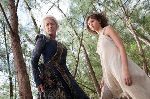 Helen Mirren and Felicity Jones in The Tempest (2010)