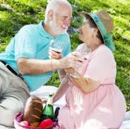 public domain Romantic picnic.