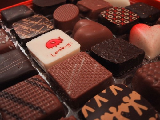 Mouth-watering chocolates of different shapes and styles