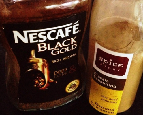 Cinnamon is always good on black coffee...
