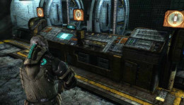 Dead Space 3 Get Rosetta Piece by aligning the three slots to vertical in the Paleontology Lab.