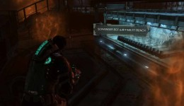 Dead Space 3 Chapter 15 starts with Isaac escaping from the gas. Run down the ramp, turn left and then right and up the other ramp to the exit.