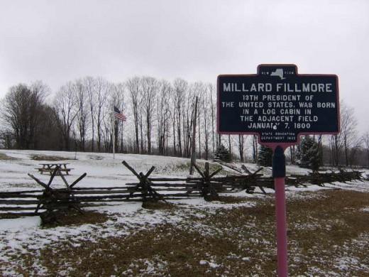 Fillmore Birthplace Marker, Moravia, New York
