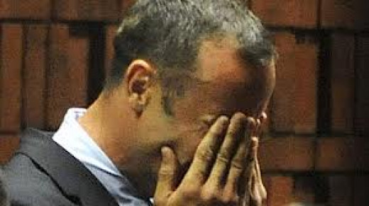 Oscar breaking down in court.
