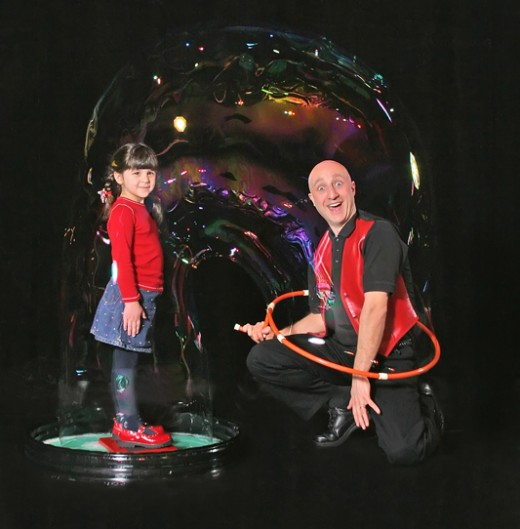 Putting a person in a bubble is a highlight of the show!
