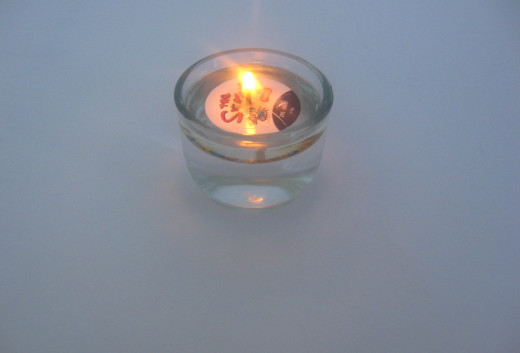 Lighted Oil,Candle