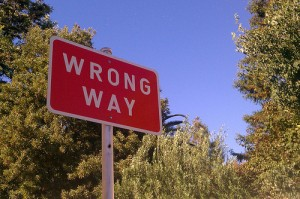 "The question is, which way is the ""wrong way""? And why is a way the ""wrong way""?"