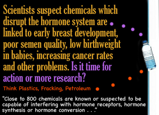 Scientists suspect chemicals which disrupt the hormone system are linked to early breast development, poor semen quality, low birthweight in babies and other problems, but more research is needed. . .