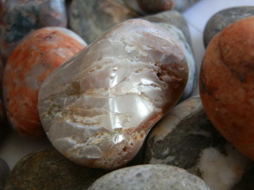 polished quartz-based beach pebble