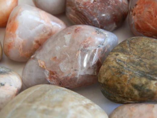 polished beach pebbles